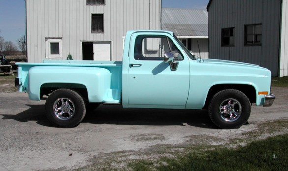 Baby Blue Pickup