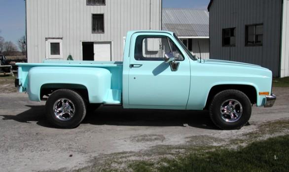 Baby Blue Pickup