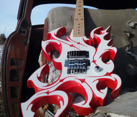 Abstract Art Guitar