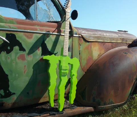 Monster Logo Guitar